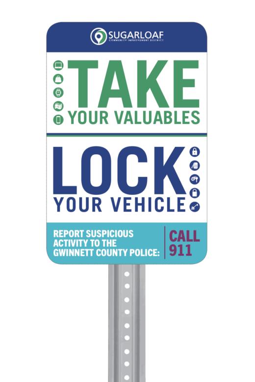 Take & Lock Signage Example