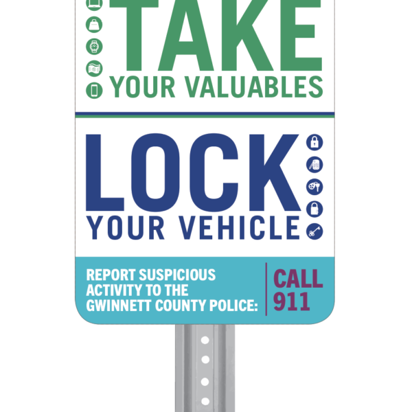Take & Lock Signage Example